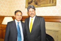 with Mr Kapil Dev in London