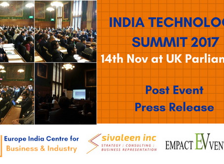 India Technology Summit promotes trade between British-India tech ecosystems at UK Parliament