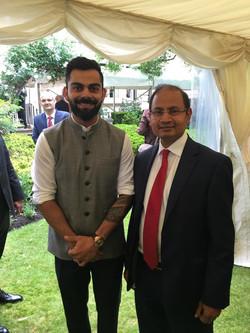 With Mr Virat Kohli