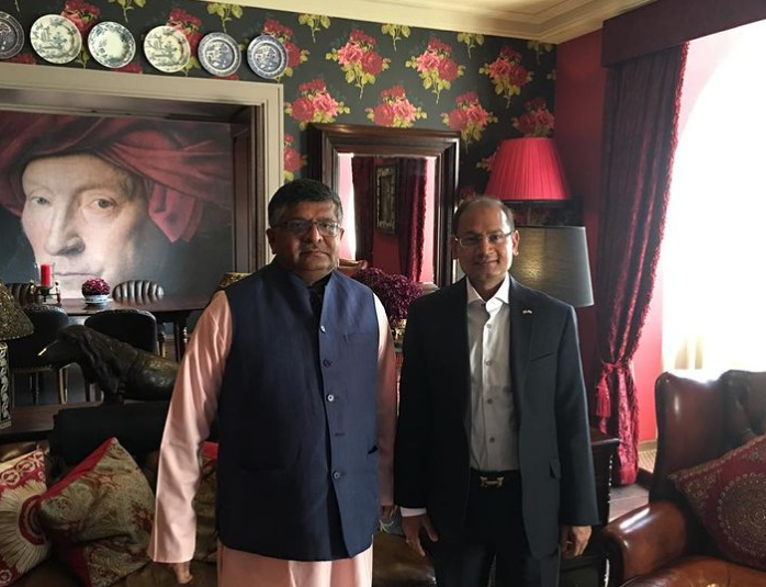 With Mr Ravi Shankar Prasad