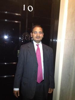 At UK PM residence