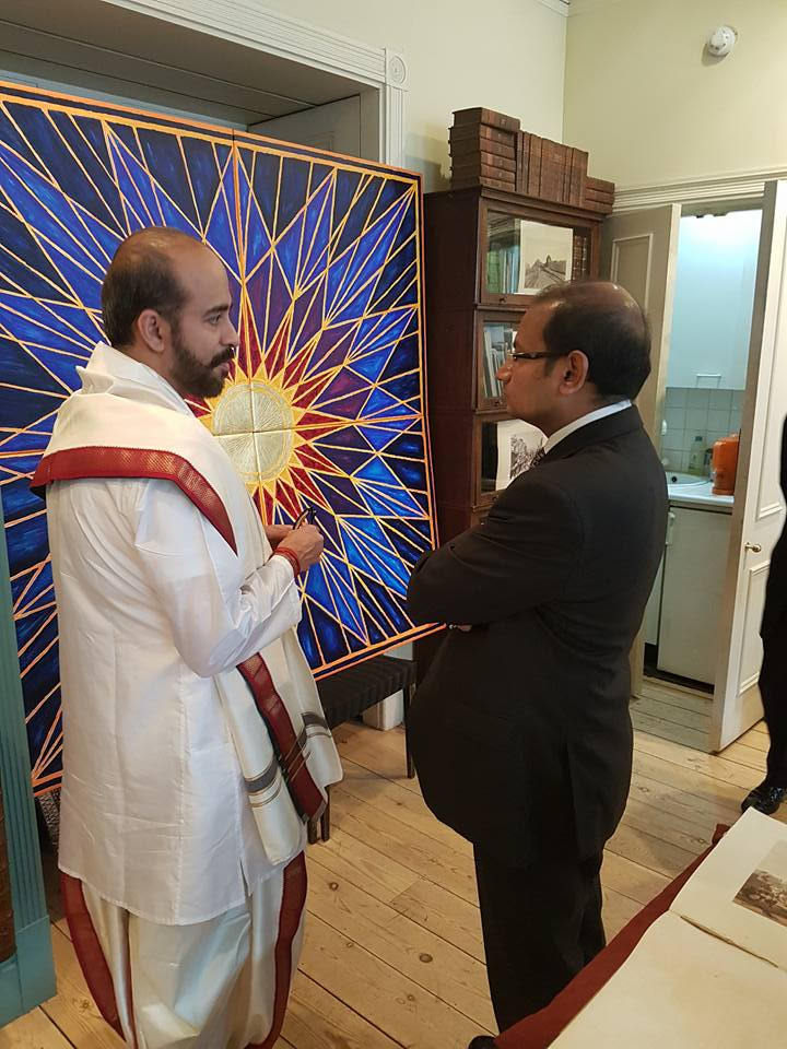 Inaugurating the painting exhibition