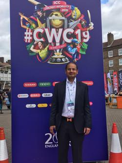At Cricket World Cup 2019 UK