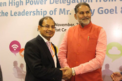 With Mr Ram Bilas Sharma