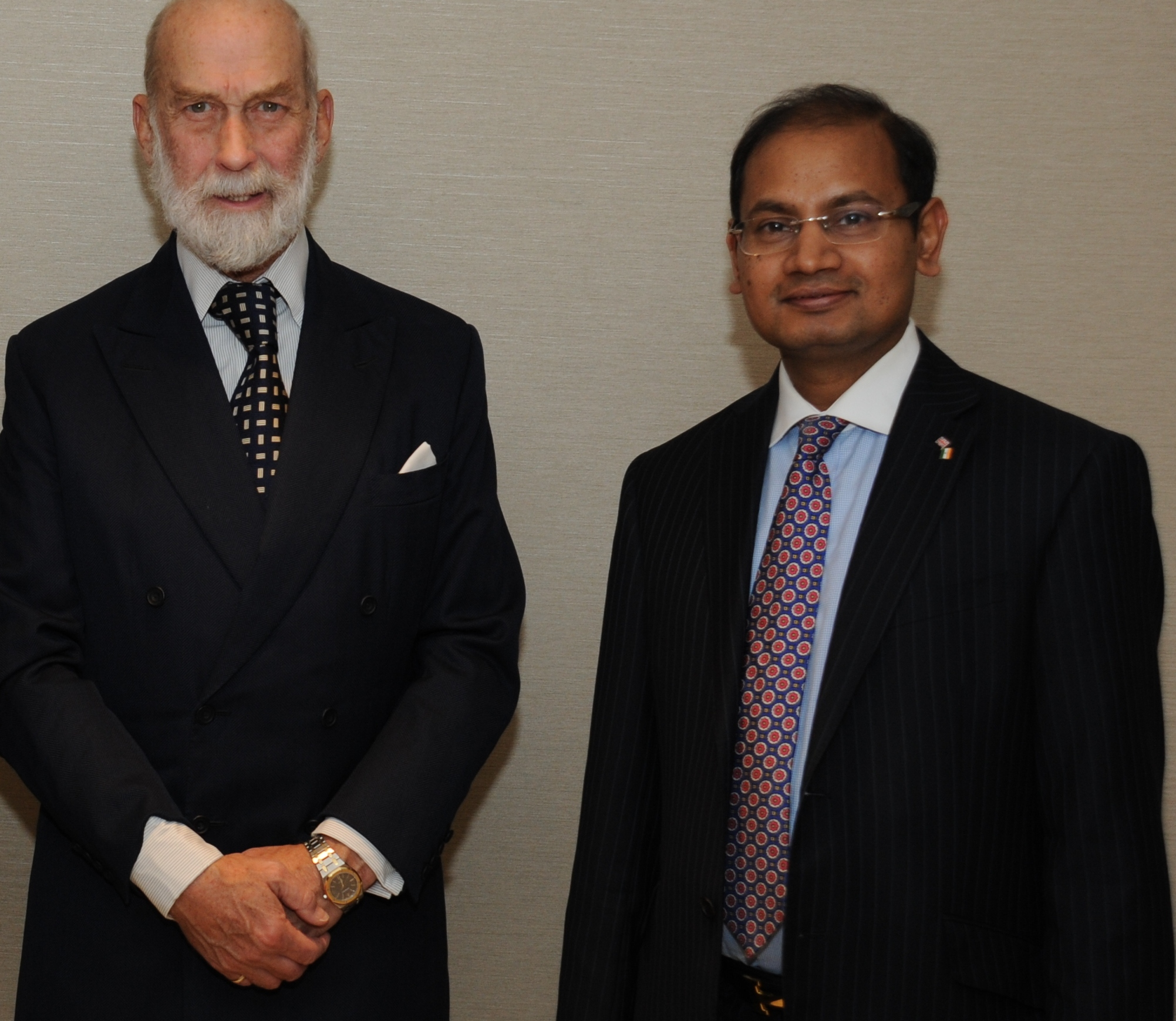 With Prince Michael of Kent