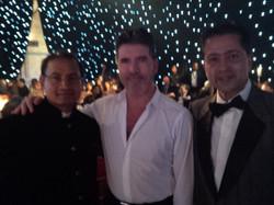 With Simon Cowell