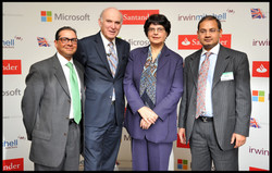 With Vince Cable