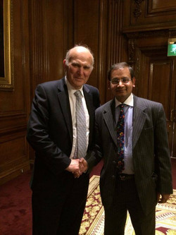 With Mr Vince Cable
