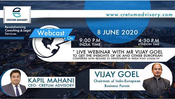 Vijay Goel webinar