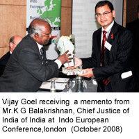 Memento from Mr.K.G.Balakrishnan