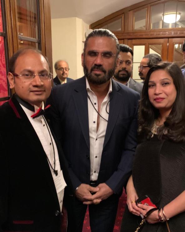 With Suneil Shetty