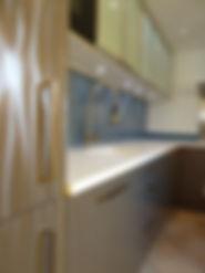 Joseph Vithaya, bon décorateur, Paris 14, 75014, Maison, Clamart, 92, décoration cuisine, agencement cuisine, hotte, four, plaque induction, évier, mitigeur, corian, contemporain