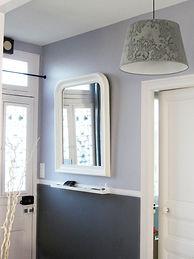 Joseph Vithaya, bon décorateur, Paris 14, 75014, Maillot, 89, décoration d'un couloir, relooking, miroir, maison du monde, entrée, gris