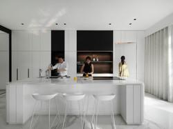 Dry kitchen . Island