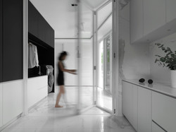Laundry area . folding door