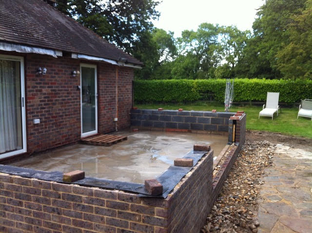 brick work foundations