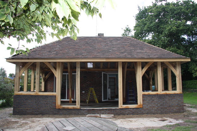 timber frame sun room