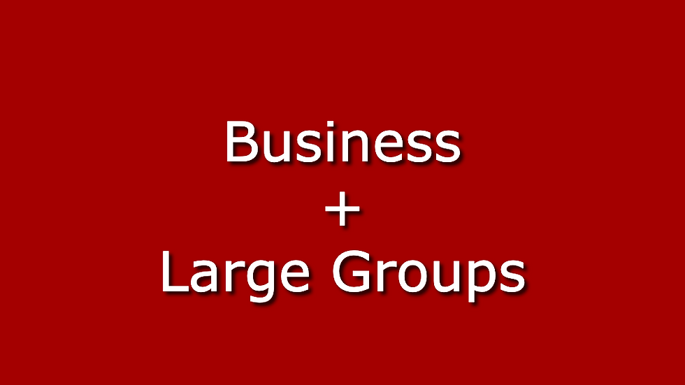 Business+ Large Groups