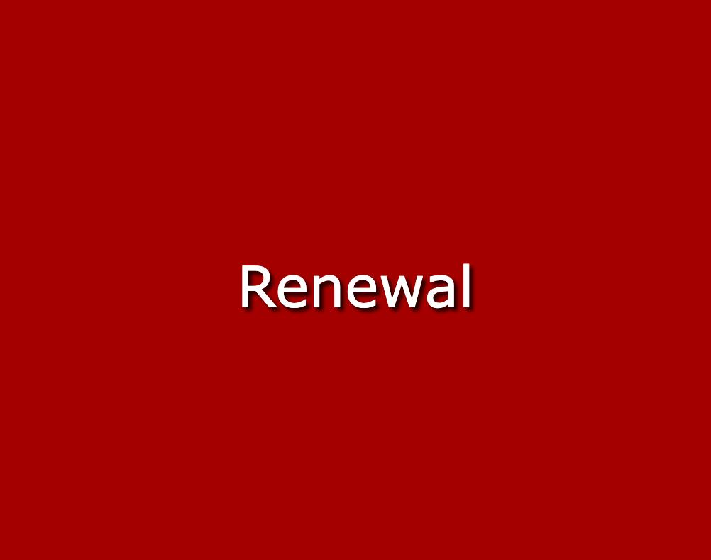 Certification Renewals