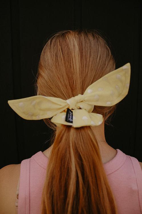 Yellow Ice Cream Scrunchie Bow