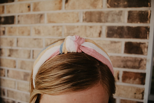 Linen Top Knot Hard Headband