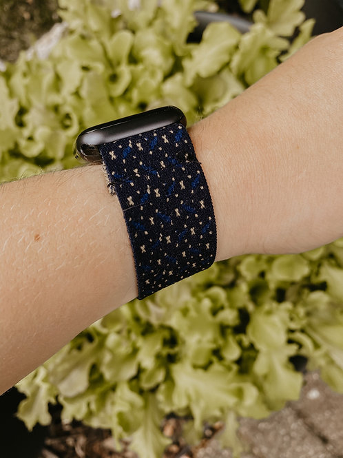 Navy Speck Apple Watch Band