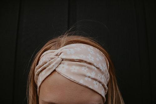 Pink Daisy Wide Headband