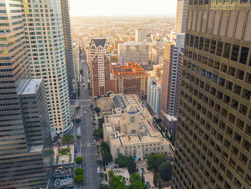 Los Angeles Public Library 500 feet from above