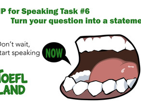 Don't Wait! Start Speaking Now!