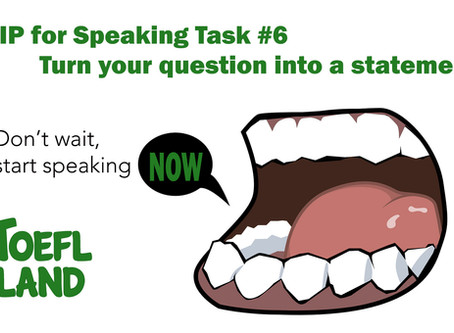 Don't Wait! Start Speaking Now!