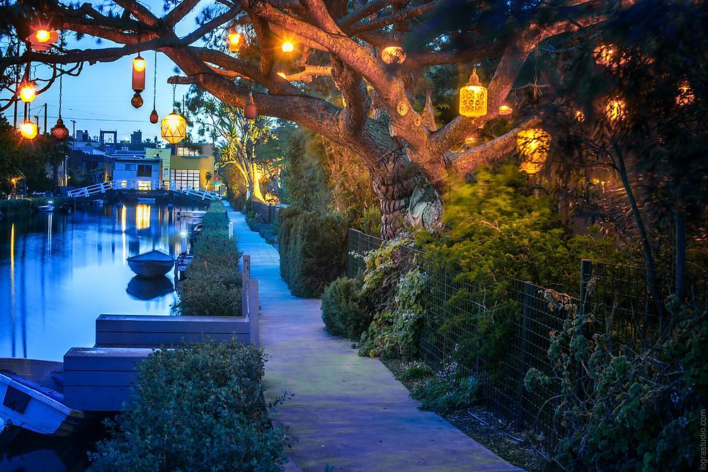 Venice Canals, California. Multiple award winning photo by Irina Logra