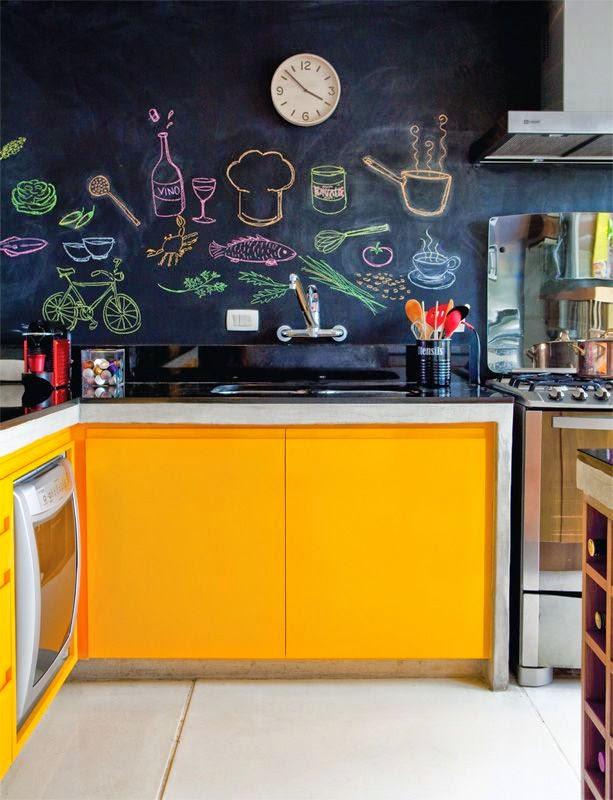 Como fazer um quadro negro na cozinha?