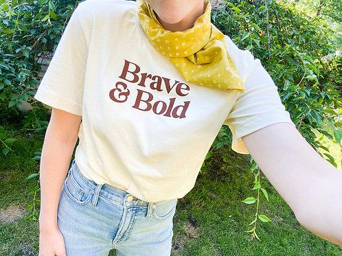 Brave & Bold Tee   Cream