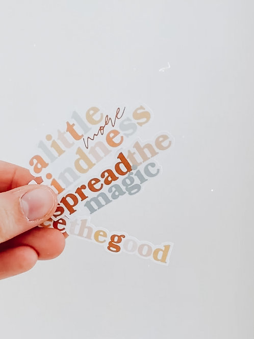 'Kindness' Stickers