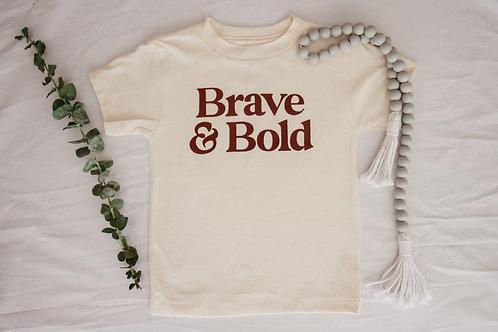 Brave & Bold Littles Tee | Cream
