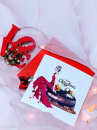 Christmas Cards Series: Girl On Cake