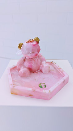 Pink Bear Phone Stand