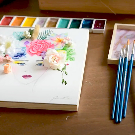 Floral Art and Watercolor Illustration - 15 May