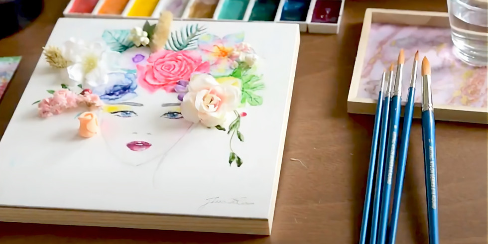 Floral Art and Watercolor Illustration - Sat, 3rd APRIL