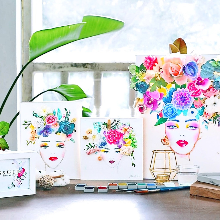 Floral Art and Watercolor Illustration - 22 May