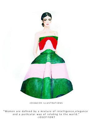 Delpozo Green Print
