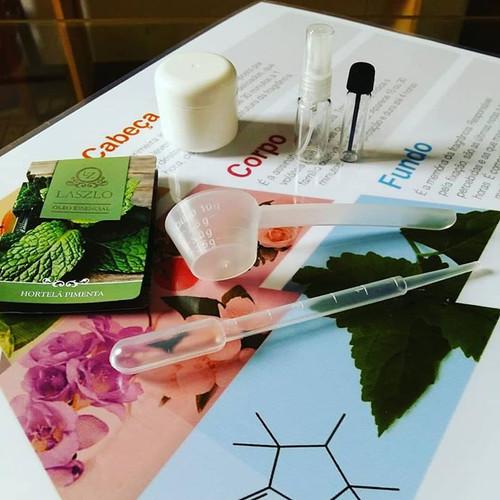 Material oficina de aromaterapia