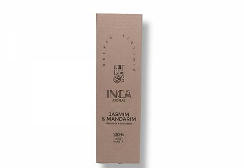 Incenso jasmim e mandarim terapêutico 4 varetas - Inca Aromas