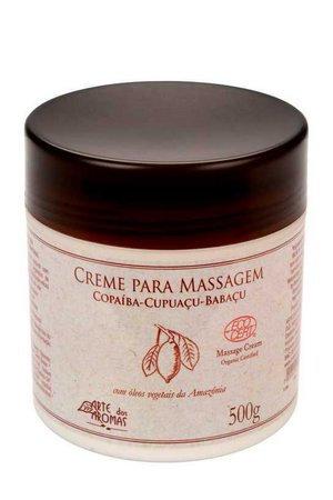 Creme para Massagem Arte dos Aromas Certificado Orgânico ECOCERT 500g