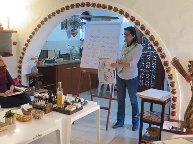 Oficina de aromaterapia Novos Aromas