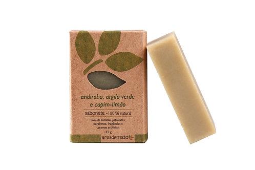 Sabonete andiroba, argila verde e capim limão - Pele Oleosa - Facial e Corporal