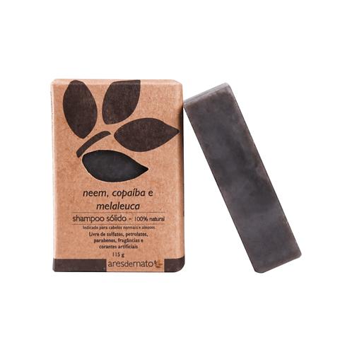 Shampoo sólido argila preta neem copaíba e melaleuca - 115g