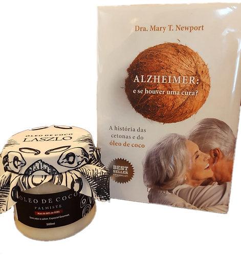 Kit Livro Alzheimer: e se houver uma cura? + Óleo de Coco Palmiste Laszlo