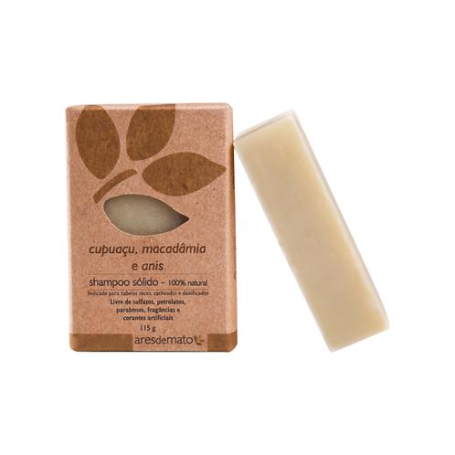 Shampoo sólido cupuaçu, macadamia e anis - 115g