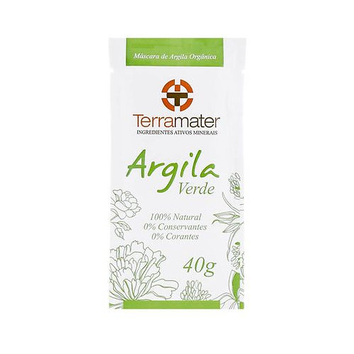 Argila sachê verde - Terramater 40g